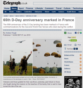 So which one is it? And we thought D-Day was all about Remembrance... Tut