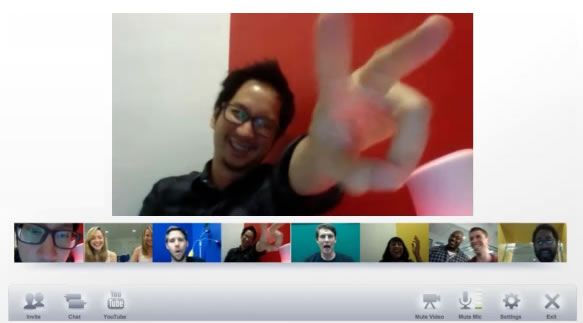 Google+ Hangouts Video Feature