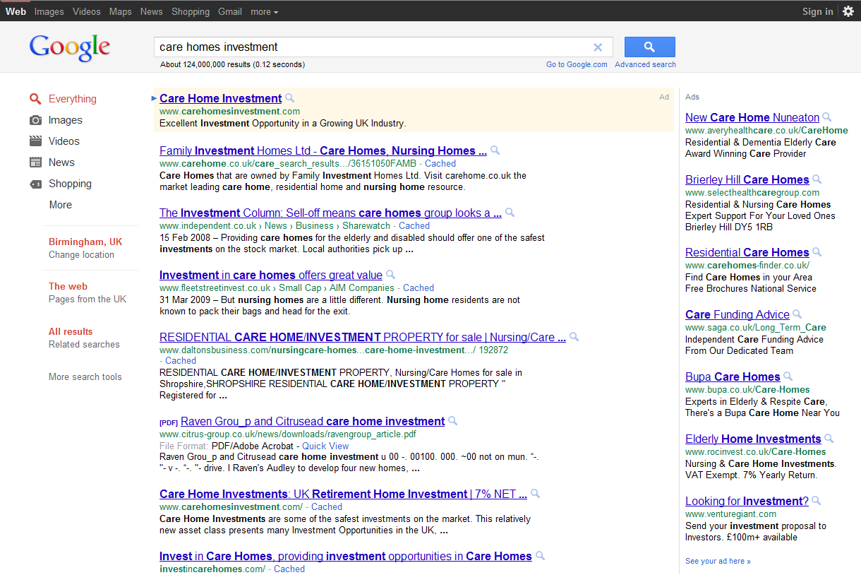 new google black layout for 2011 google turns to the dark side