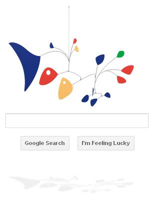 Alexander Calder mobile Google Doodle