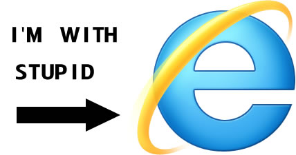 Proof that IE users are stupid