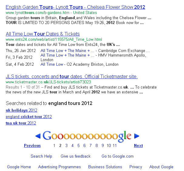 Google Search Results Another Types of Links