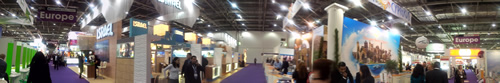 360 picture of Europe stands on WTM London in Excel in 2012
